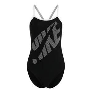 Nike Swim Sportovní plavky  černá / světle šedá
