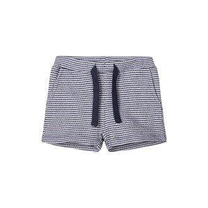 NAME IT Kalhoty  námořnická modř / bílá