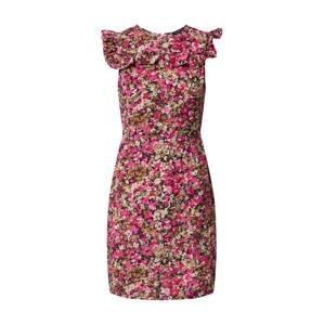 Trendyol Letní šaty  pink / černá