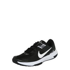 NIKE Sportovní boty  černá / bílá