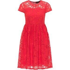 faina Koktejlové šaty  červená