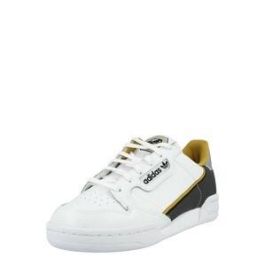 ADIDAS ORIGINALS Tenisky 'Continental 80'  žlutá / bílá / tmavě hnědá / stříbrná
