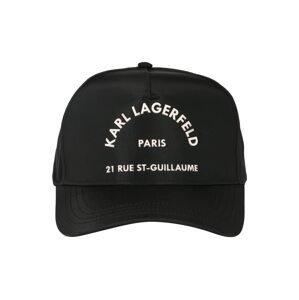 Karl Lagerfeld Čepice 'Rue St Guillaume'  bílá / černá