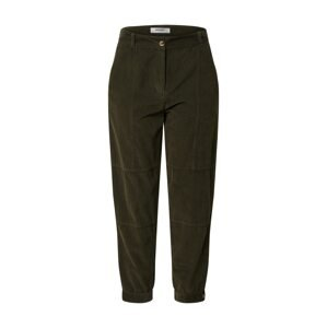 MOSS COPENHAGEN Kalhoty s puky 'Frea'  tmavě zelená