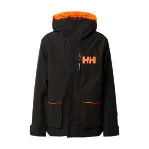 HELLY HANSEN Zimní bunda 'KICKINGHORSE'  černá / oranžová