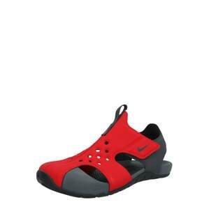 Nike Sportswear Plážová/koupací obuv 'Sunray Protect'  černá / červená