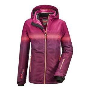 KILLTEC Outdoorová bunda 'Glenshee'  švestková / pink / tmavě růžová
