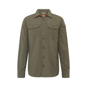CRAGHOPPERS Funkční košile 'Adv'  tmavě zelená