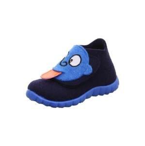 SUPERFIT Pantofle 'HAPPY'  marine modrá / královská modrá / bílá / korálová