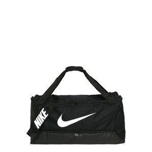 NIKE Sportovní taška 'Brasilia'  černá / bílá