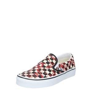 VANS Slip on boty  červená / černá / bílá