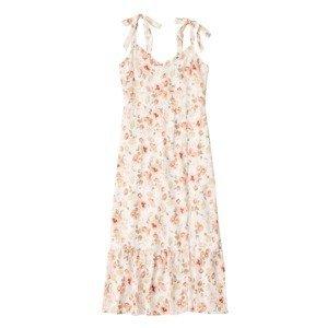 Abercrombie & Fitch Letní šaty  růžová / bílá