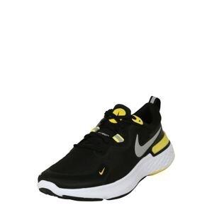 NIKE Běžecká obuv 'React Miler'  černá / žlutá / bílá / šedá