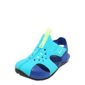 NIKE Plážová/koupací obuv 'Sunray Protect 2'  kiwi / tyrkysová / modrá