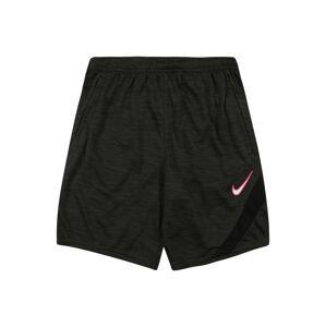 NIKE Sportovní kalhoty 'Academy'  tmavě šedá / bílá / pink