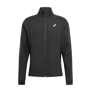 ASICS Sportovní bunda  černý melír / světle šedá