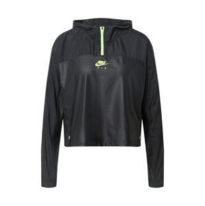 NIKE Sportovní bunda 'Air'  svítivě zelená / černá