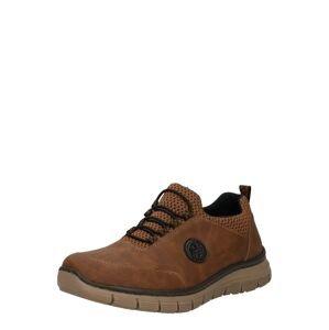 RIEKER Sportovní šněrovací boty  černá / nažloutlá