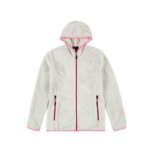 CMP Funkční flísová bunda  bílá / pink