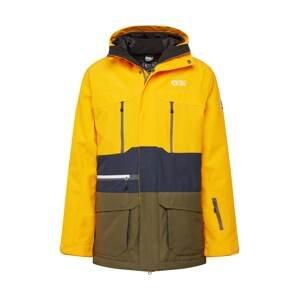 Picture Organic Clothing Outdoorová bunda  zlatě žlutá / tmavě modrá / olivová