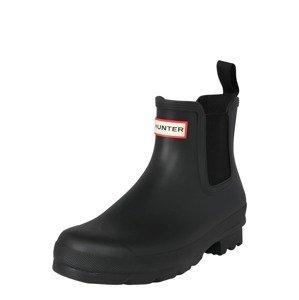 HUNTER Chelsea boty  černá