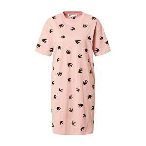 McQ Alexander McQueen Šaty 'Slouchy'  růžová / černá