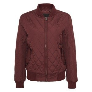 Urban Classics Přechodná bunda 'Diamond Quilt'  tmavě červená