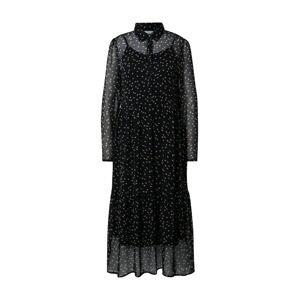 ICHI Košilové šaty 'Betty'  černá