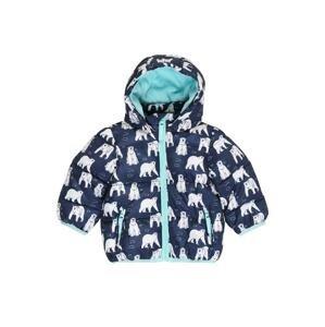 BLUE SEVEN Zimní bunda  tmavě modrá / bílá / tyrkysová