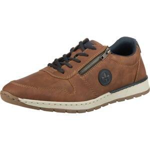 RIEKER Sportovní šněrovací boty  rezavě hnědá / marine modrá