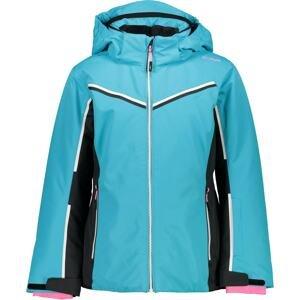 CMP Outdoorová bunda  tyrkysová / černá / bílá / světle růžová
