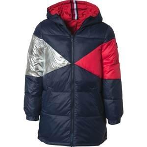 TOMMY HILFIGER Zimní bunda  bílá / noční modrá / červená