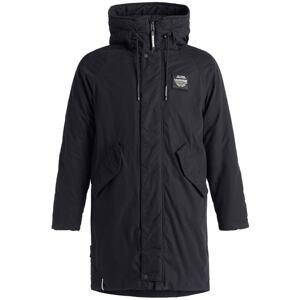 khujo Zimní kabát ' HOOK2 '  černá / bílá