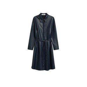 MANGO Košilové šaty  námořnická modř