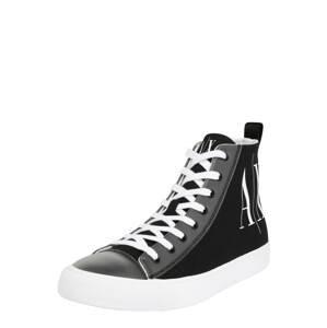 ARMANI EXCHANGE Kotníkové tenisky  černá / bílá