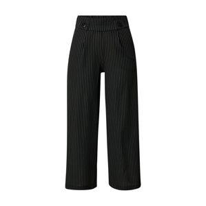 JDY Kalhoty  černá / bílá