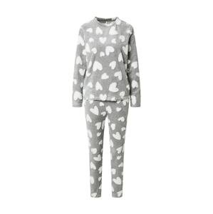 ONLY Pyžamo 'ONLCAYA'  světle šedá / bílá