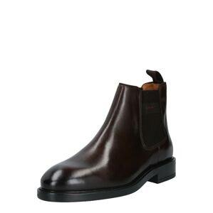 GANT Chelsea boty  tmavě hnědá