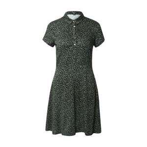 Mavi Košilové šaty  černá / zelená