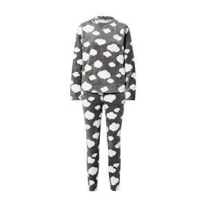 ONLY Pyžamo 'ONLCAYA'  tmavě šedá / bílá