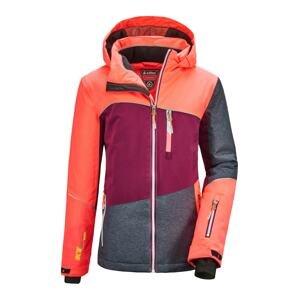 KILLTEC Sportovní bunda 'Glenshee'  tmavě šedá / červenofialová / korálová