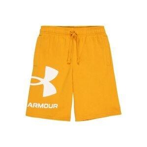 UNDER ARMOUR Sportovní kalhoty  žlutá / bílá