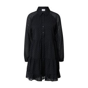 VILA Košilové šaty 'PARTISAN'  černá