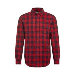 UNITED COLORS OF BENETTON Košile  černá / červená