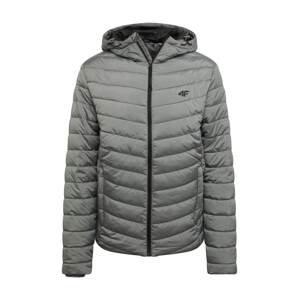 4F Outdoorová bunda  šedý melír
