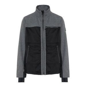 CHIEMSEE Outdoorová bunda 'LATSGA'  černá / šedý melír