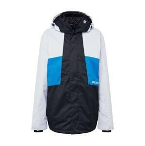 DC Shoes Outdoorová bunda 'DEFY'  černá / nebeská modř / bílá