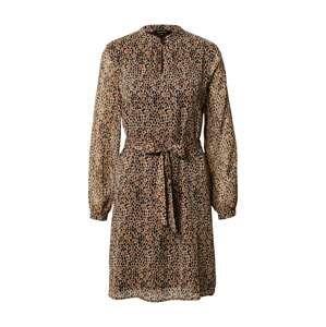 MORE & MORE Košilové šaty  krémová / tmavě hnědá / černá / světle hnědá
