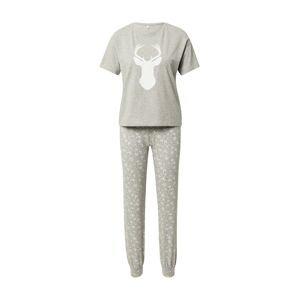 ONLY Pyžamo 'CELINE'  bílá / šedý melír