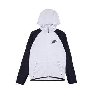 Nike Sportswear Fleecová mikina  černá / bílá
